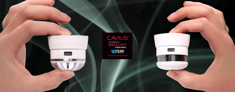 Cavius - The World's Smallest Heat and Smoke Detector